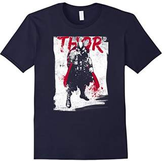 Marvel Thor Grunge Paint Splatter Graphic T-Shirt