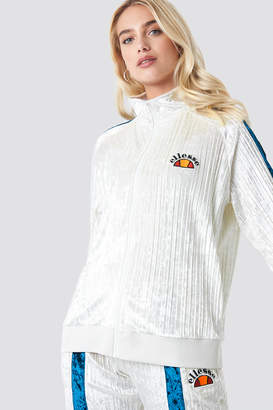 Ellesse El Angelica Velvet Track Top Off White