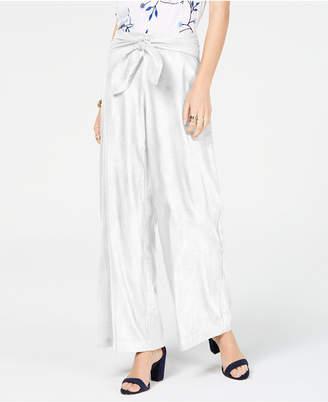 INC International Concepts I.n.c. Wide-Leg Paper Bag Tie Waist Pants