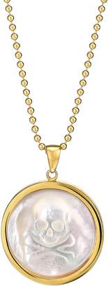 Asha Skull Long Mother-of-Pearl Pendant Necklace