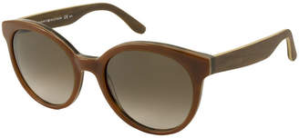 Tommy Hilfiger Sunglasses - Th1242S / Frame: Brown with Wood Grain Temples Lens: Brown Gradient
