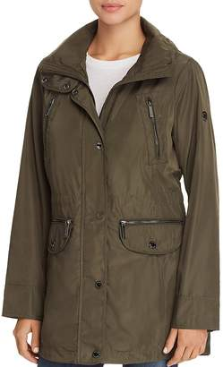 MICHAEL Michael Kors Double Collar Hooded Raincoat