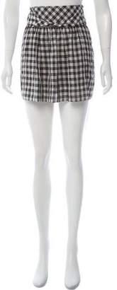Comptoir des Cotonniers Gingham Mini Skirt