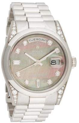 Rolex Day-Date Watch $34,995 thestylecure.com