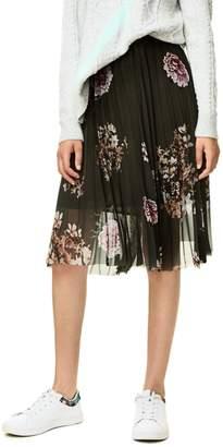 Desigual Pleated Floral Skirt