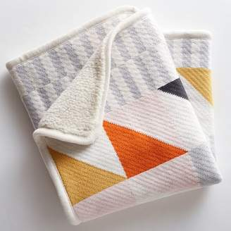west elm Knit Cotton Baby Blanket - Squares
