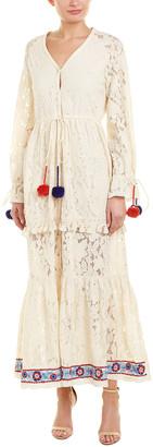 HEMANT AND NANDITA Button-Down Maxi Dress
