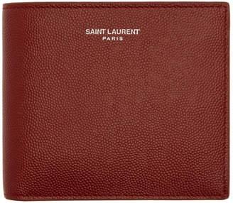 Saint Laurent Red East/West Wallet