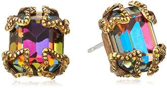 "Sorrelli Aurora Sky"" Antique-Inspired Emerald Cut Button Earrings"
