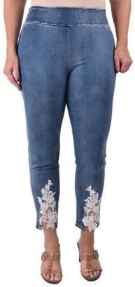 True Blue Lace Ankle Jeans