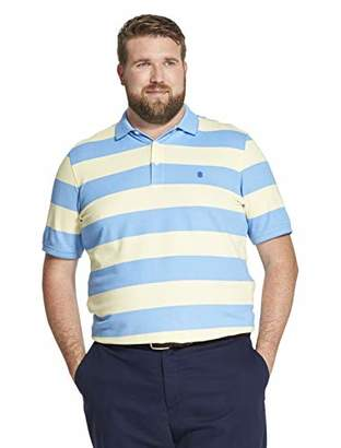 Izod Men's Big and Tall Advantage Performance Short Sleeve Stripe Polo Shirt