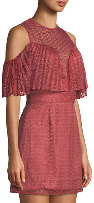 Keepsake Ignite Me Illusion Ruffle Lace Dress