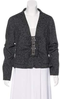 Valentino Embellished Wool-Blend Jacket w/ Tags