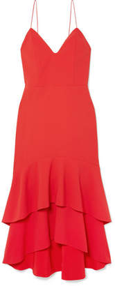 Alice + Olivia Alice Olivia - Amina Tiered Crepe Midi Dress