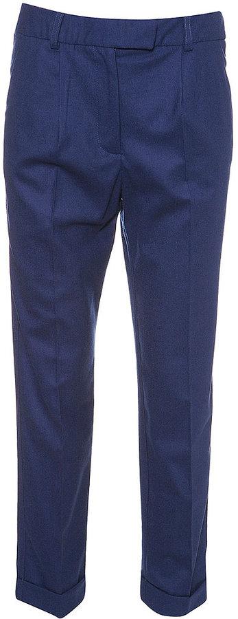 Wool Carrot Leg Trousers