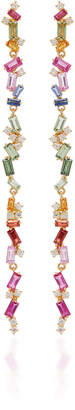 Suzanne Kalan 18K Yellow Gold Diamond And Sapphire Earrings