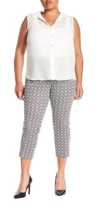 Amanda & Chelsea Comfort Waist Printed Ponte Pants (Plus Size)