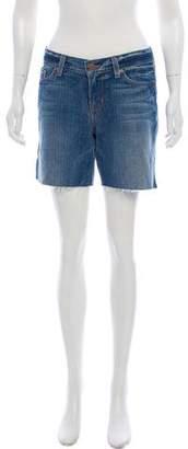 J Brand Mid-Rise Raw-Edge Shorts