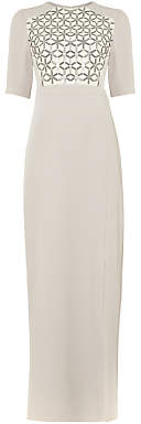 Phase Eight Hetty Embellished Dress, Silver