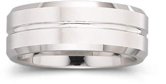 MODERN BRIDE Tungsten Ring, Mens 8mm Groove Center Band