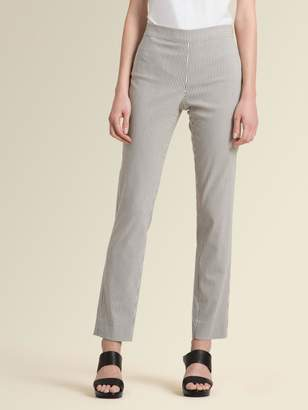 DKNY Cotton Twill Striped Skinny Pant