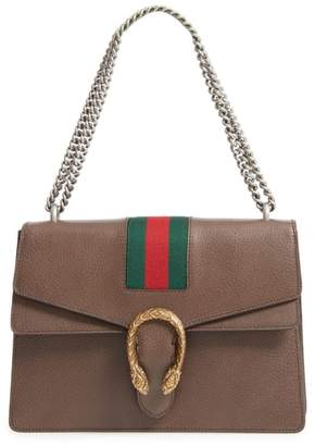 Gucci Dionysus Web Stripe Leather Shoulder Bag
