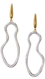 Monica Vinader Riva Pave Pod Drop Earrings/Goldtone