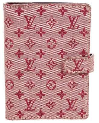 Louis Vuitton Mini Lin Small Ring Agenda Cover