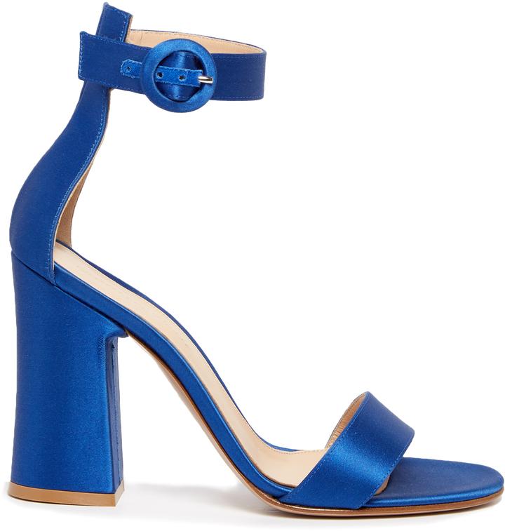 GIANVITO ROSSI Malaga block-heel satin sandals