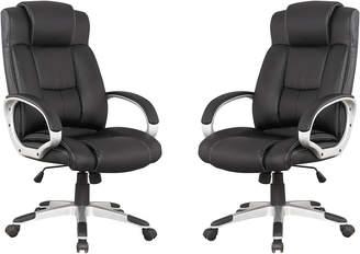 Manhattan Comfort Presidentential Washington Set Of 2 Office Chairs