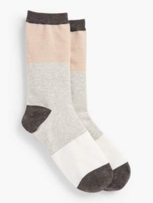 Talbots Colorblocked Space-Dye Trouser Socks