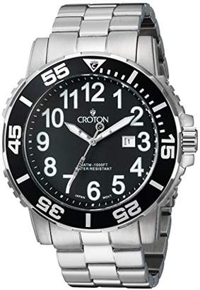 Croton Men's Quartz Stainless Steel Casual Watch