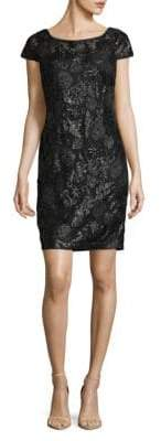 Calvin Klein Sequin Cap Sleeve Dress