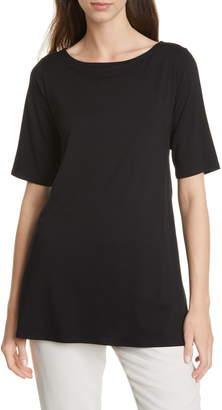 Eileen Fisher Tie Back Stretch Tencel® Lyocell Top