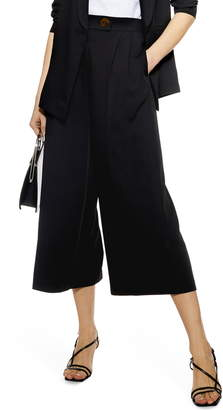 Topshop Rita Cropped Wide Leg Trousers