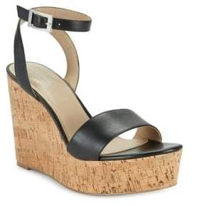 Charles by Charles David Lilla Leather Wedge Sandals