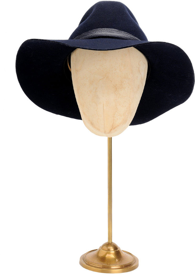 Rag and Bone Wide Brim Fedora - Navy