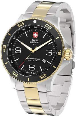 Swiss Military BY CHARMEX By Charmex Infantry Mens Two Tone Bracelet Watch-78344_5_F