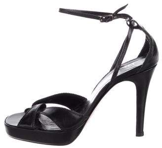 Pedro Garcia Leather Ankle-Strap Sandals
