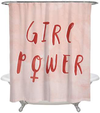 Oliver Gal Girl Power Shower Curtain