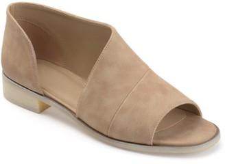 Co Brinley Women's Faux Leather D'orsay Asymmetrical Open-toe Flats