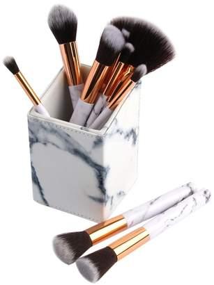 Gowind7 Makeup Brushes Set, 10Pcs Pattern Powder Lip Beauty Cosmetic Brushes+1 Brush Tube