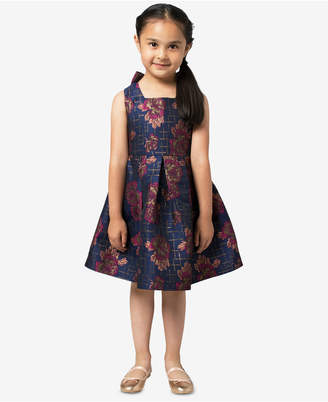 Bonnie Jean Little Girls Floral Jacquard Party Dress