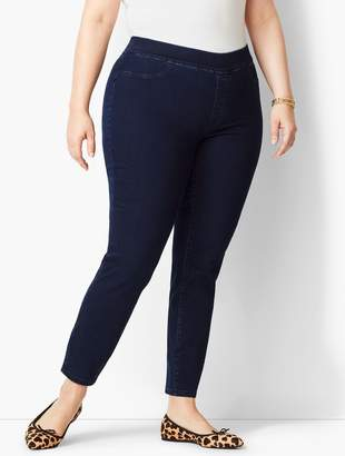 8cd08986b4c6 Talbots Plus Size Exclusive Comfort Stretch Pull-On Denim Jeggings - Rinse  Wash