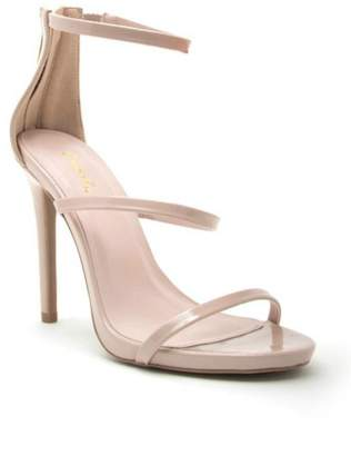 Qupid Nude Strappy Heel