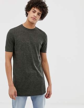 Asos DESIGN Knitted T-Shirt In Khaki Twist