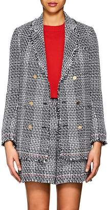 Thom Browne Women's Cotton-Blend Tweed Double-Breasted Blazer