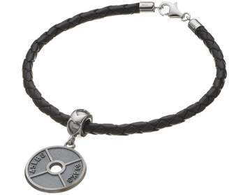 Insignia Collection Sterling Silver Weight Plate Charm Bracelet