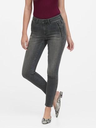 Banana Republic Curvy Mid-Rise Skinny Zip Pocket Jean