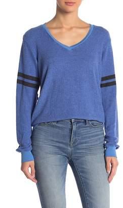 Wildfox Couture Essential Stripe V-Neck Pullover
